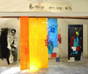 Installation: Musikalischer Farbraum, Mischtechnik